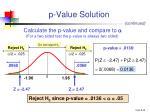 p value solution1