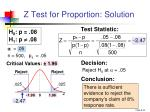 z test for proportion solution