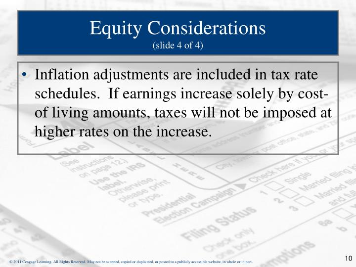 Equity Considerations
