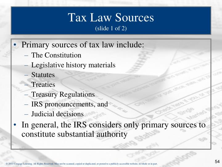 Tax Law Sources