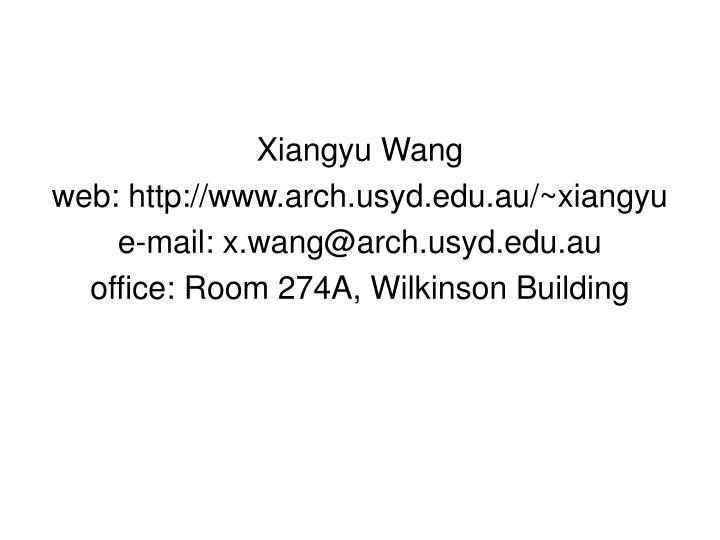 Xiangyu Wang