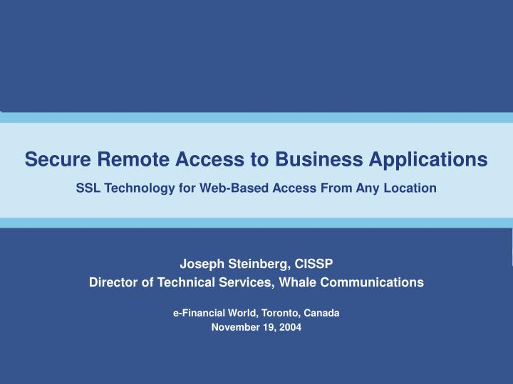 secure remote access to business applications ssl technology for web based access from any location n.