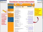 distributor contact information
