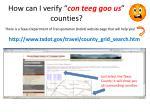 how can i verify con teeg goo us counties
