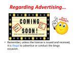 regarding advertising