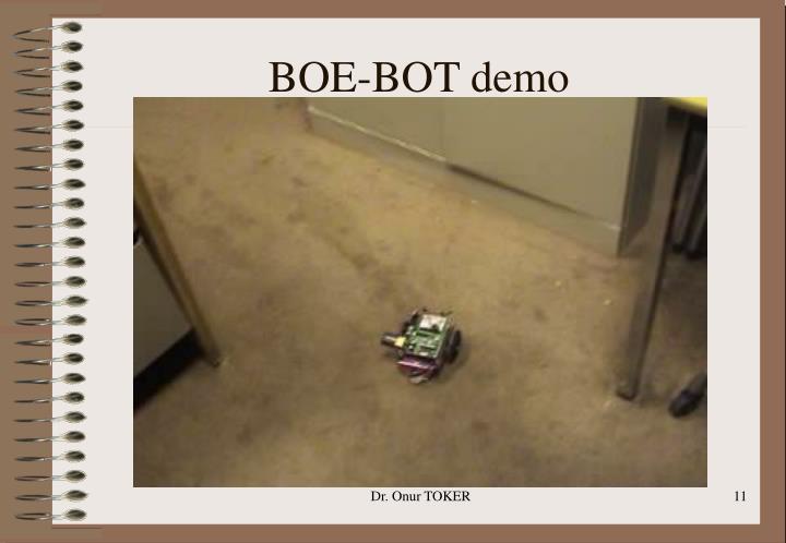 BOE-BOT demo