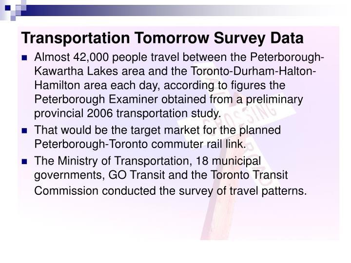 Transportation Tomorrow Survey Data