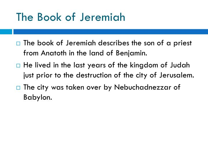 the book of jeremiah n.