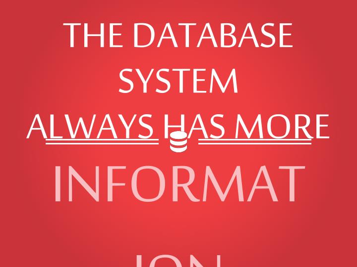 THE DATABASE SYSTEM