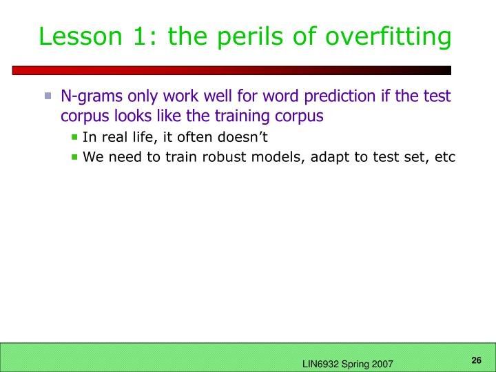 Lesson 1: the perils of overfitting