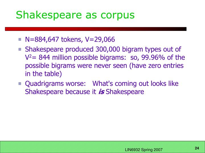 Shakespeare as corpus
