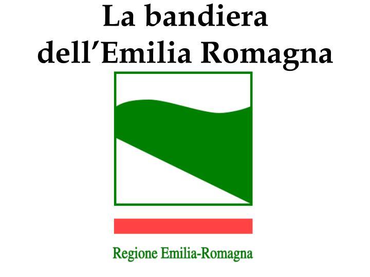 La bandiera dell'Emilia Romagna