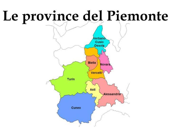 Le province del Piemonte