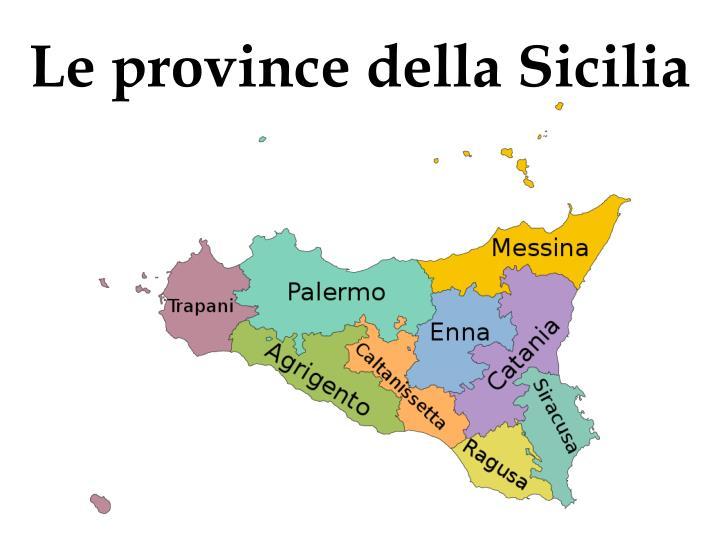 Le province della Sicilia