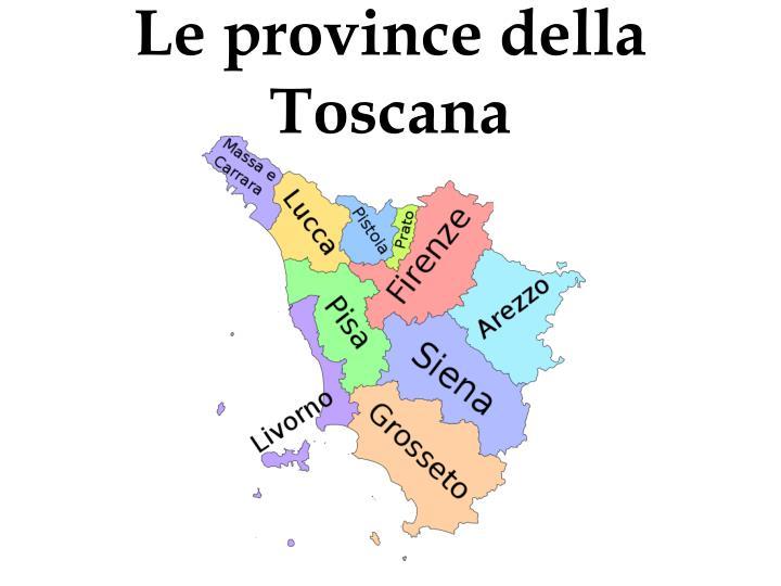 Le province della Toscana