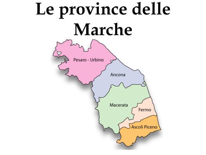 Le province delle Marche