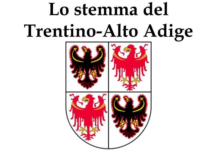 Lo stemma del Trentino-Alto Adige