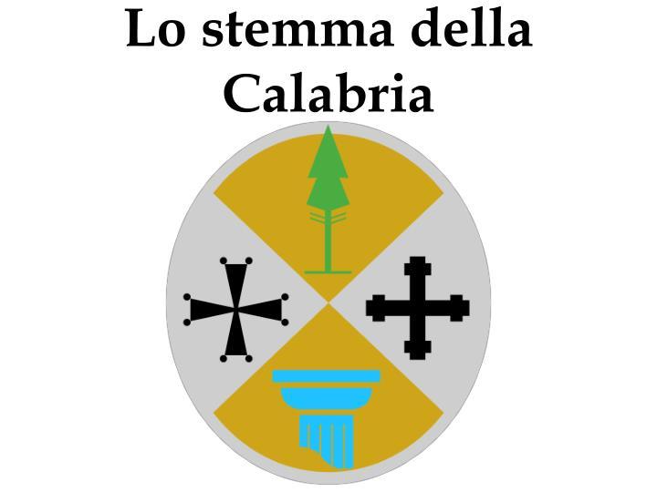 Lo stemma della Calabria