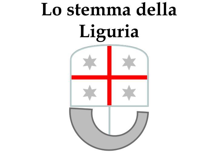 Lo stemma della Liguria