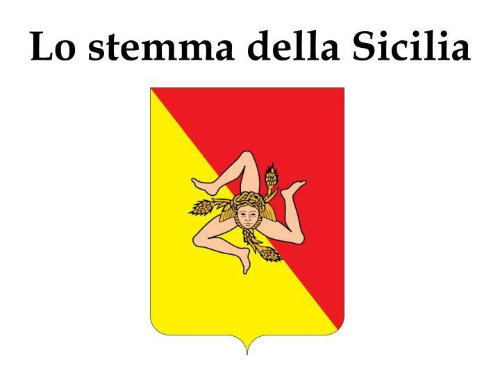 Lo stemma della Sicilia
