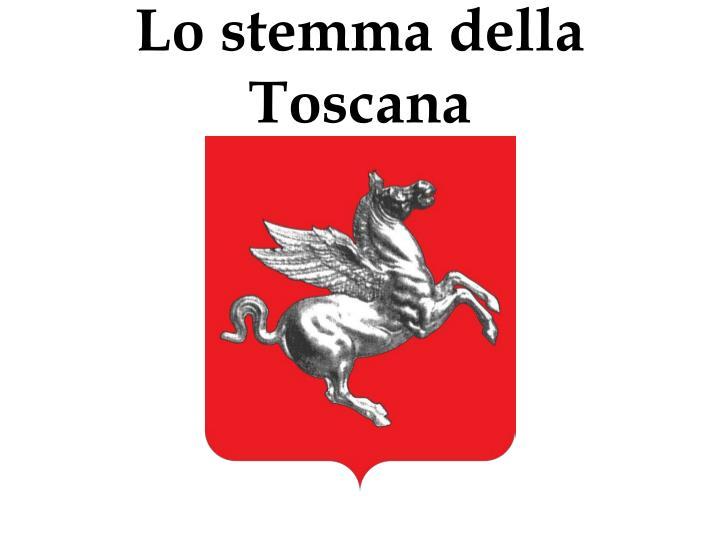 Lo stemma della Toscana
