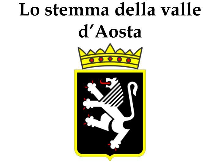Lo stemma della valle d'Aosta