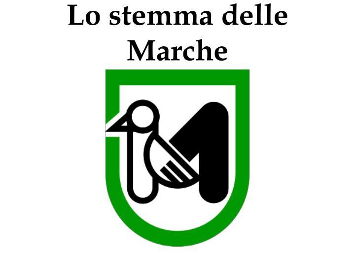 Lo stemma delle Marche
