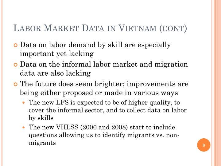 Labor Market Data in Vietnam (cont)