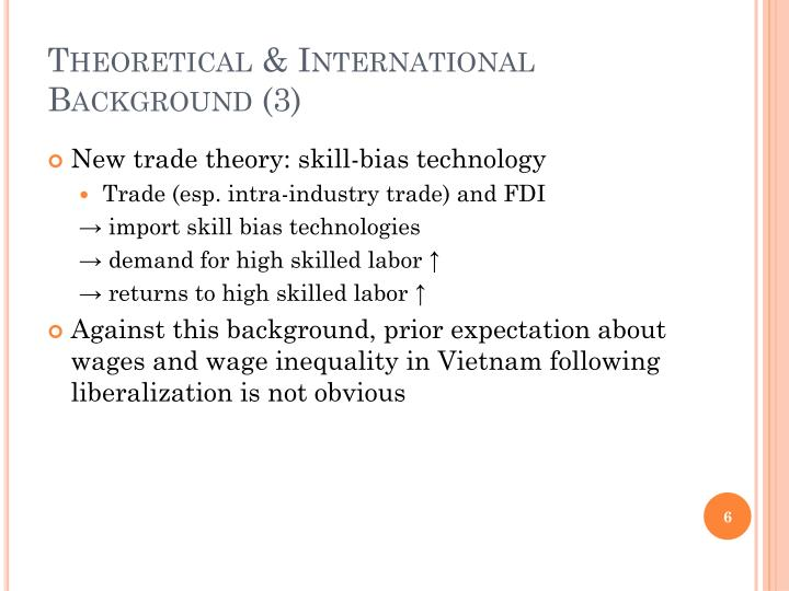 Theoretical & International Background (3)