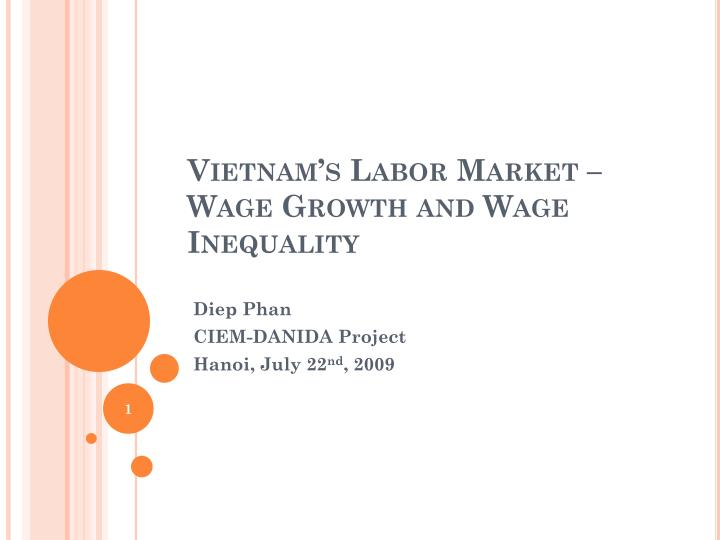 Vietnam s labor market wage growth and wage inequality