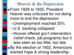 hoover the depression