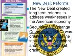 new deal reforms