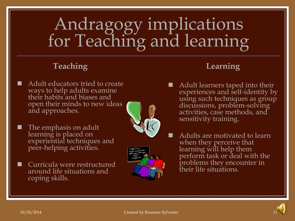 Adult andragogy learner