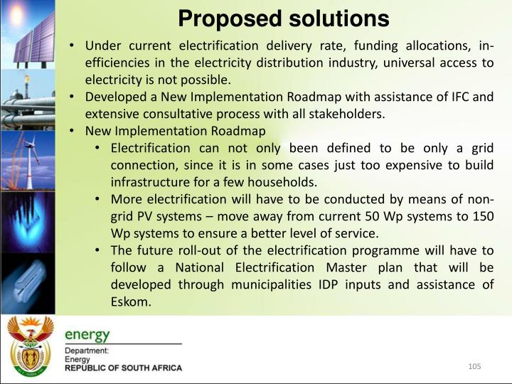 Under current electrification delivery rate, funding allocations, in-efficiencies in the electricity distribution industry, universal access to electricity is not possible.