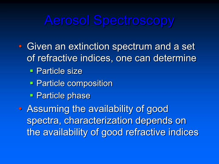 Aerosol Spectroscopy