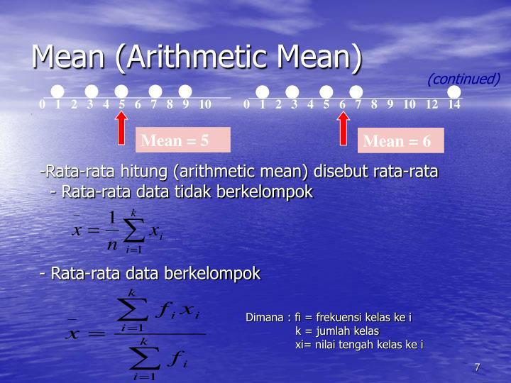 Mean (Arithmetic Mean)