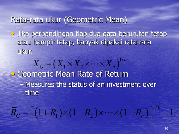 Rata-rata ukur (Geometric Mean)