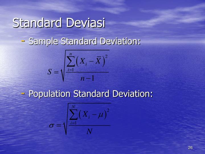 Standard Deviasi