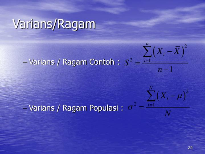Varians/Ragam