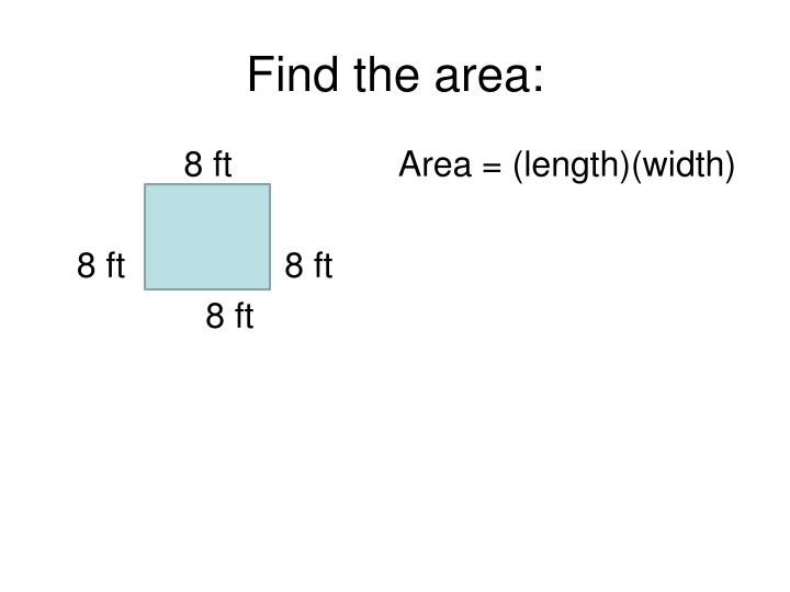 Find the area: