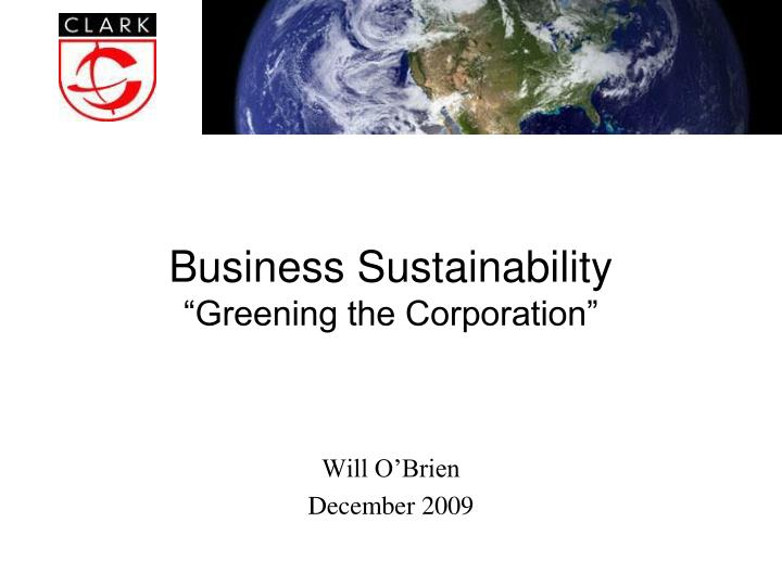 business sustainability greening the corporation n.
