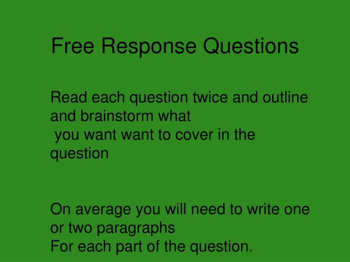 Free Response Questions