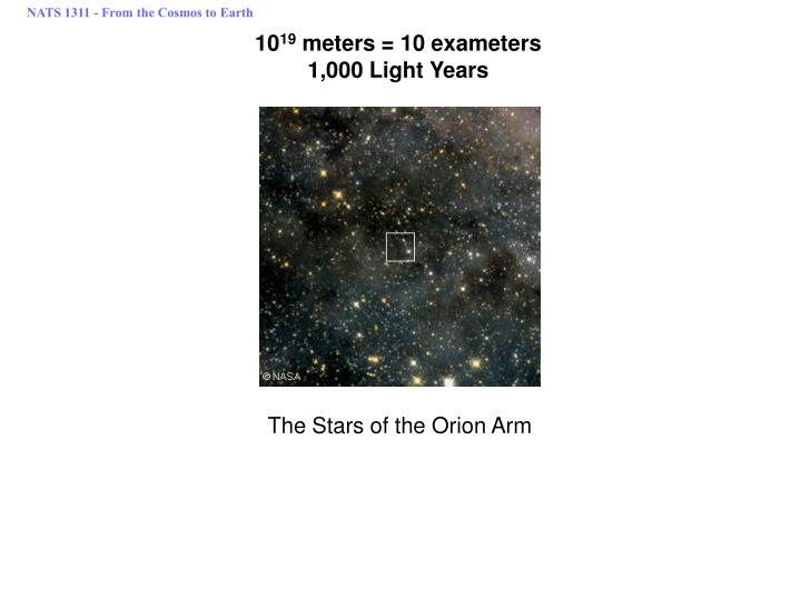NATS 1311 - From the Cosmos to Earth