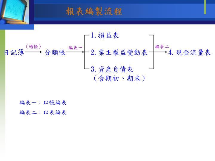 報表編製流程