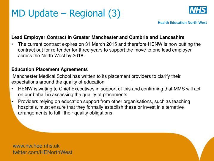 MD Update – Regional (3)
