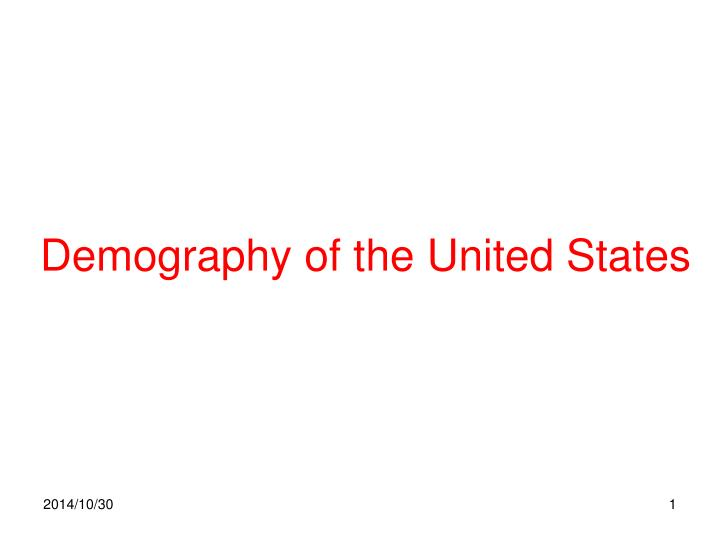 demography of the united states n.
