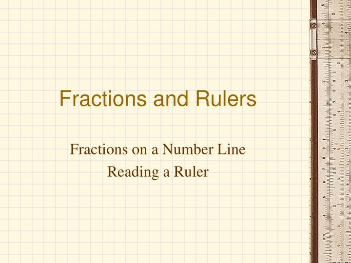fractions and rulers n.