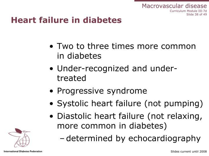 Heart failure in diabetes