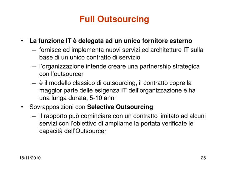 Full Outsourcing