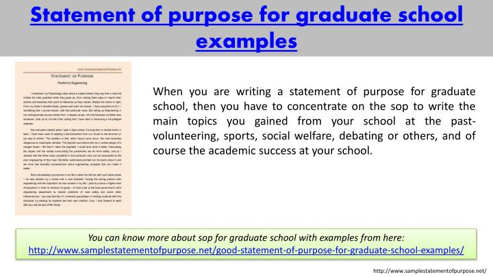 statement of goals and objectives for graduate school example